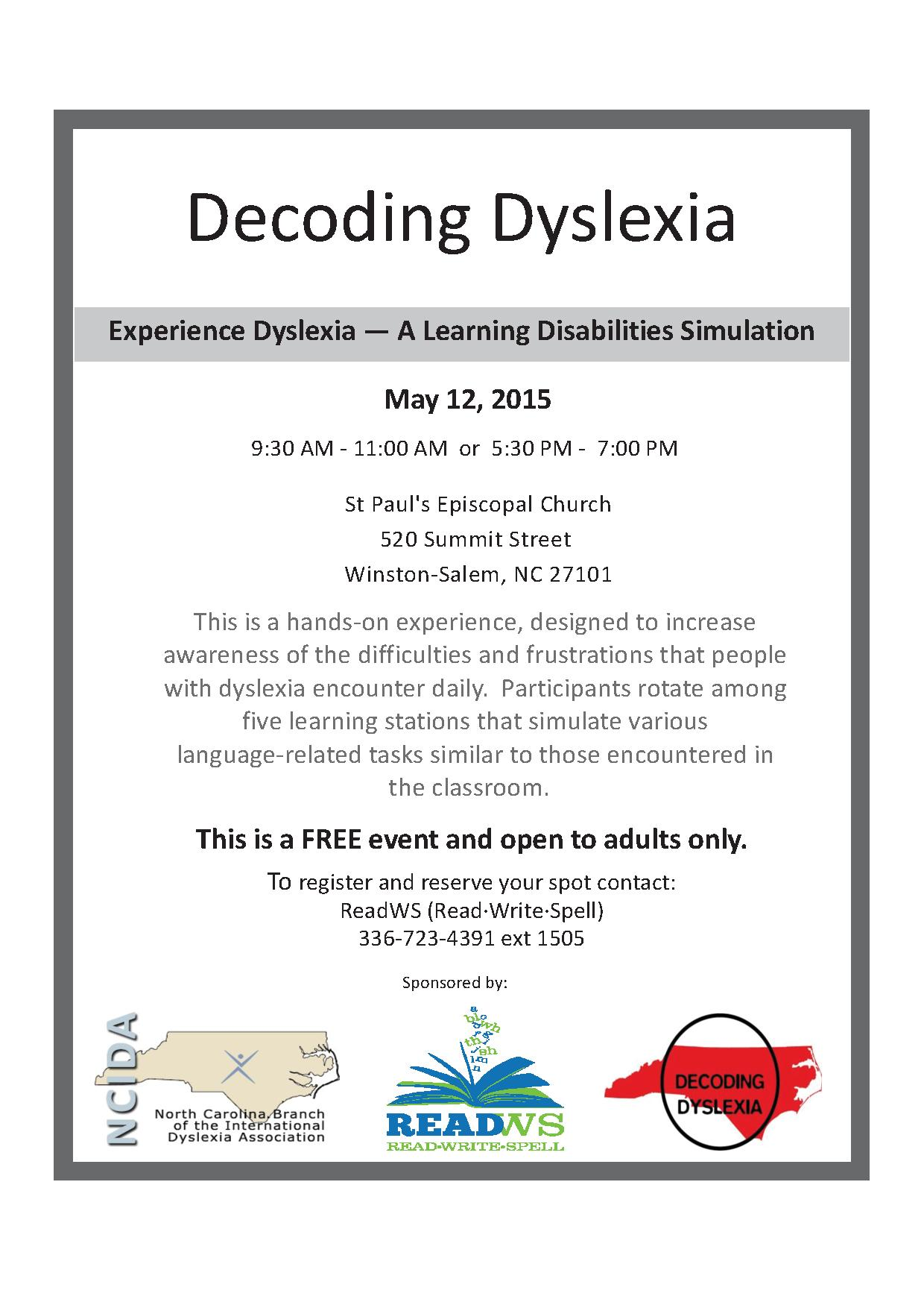 Decoding Dyslexia Event May 2015