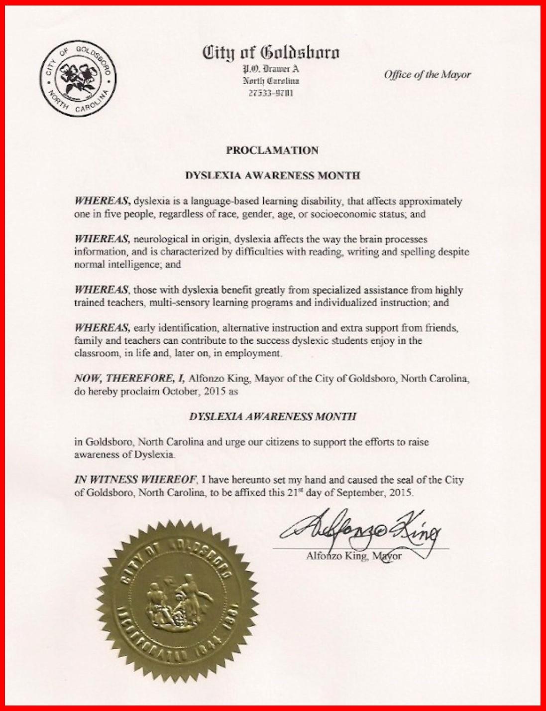 Goldsboro Proclamation