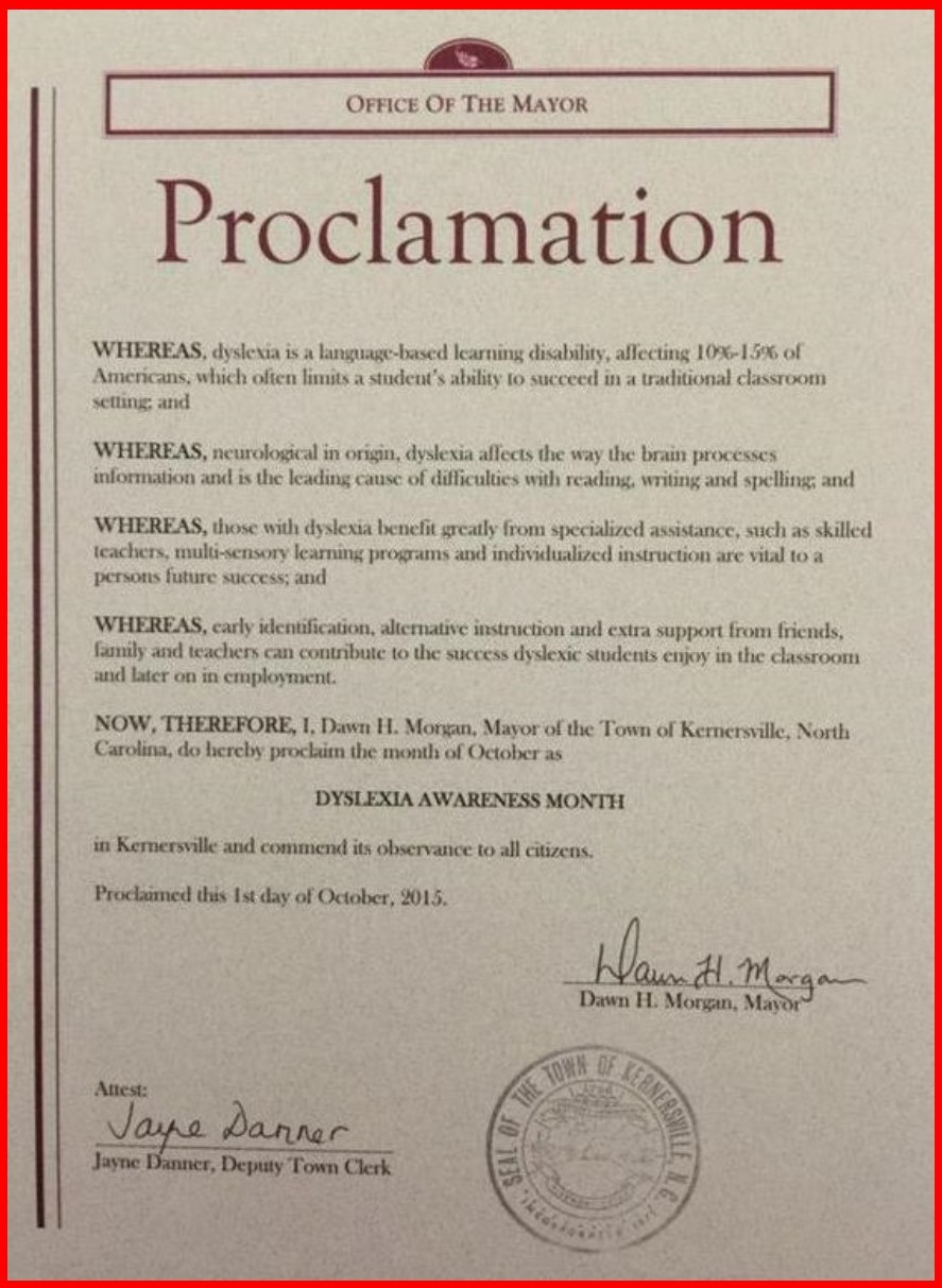 Kernersville Proclamation