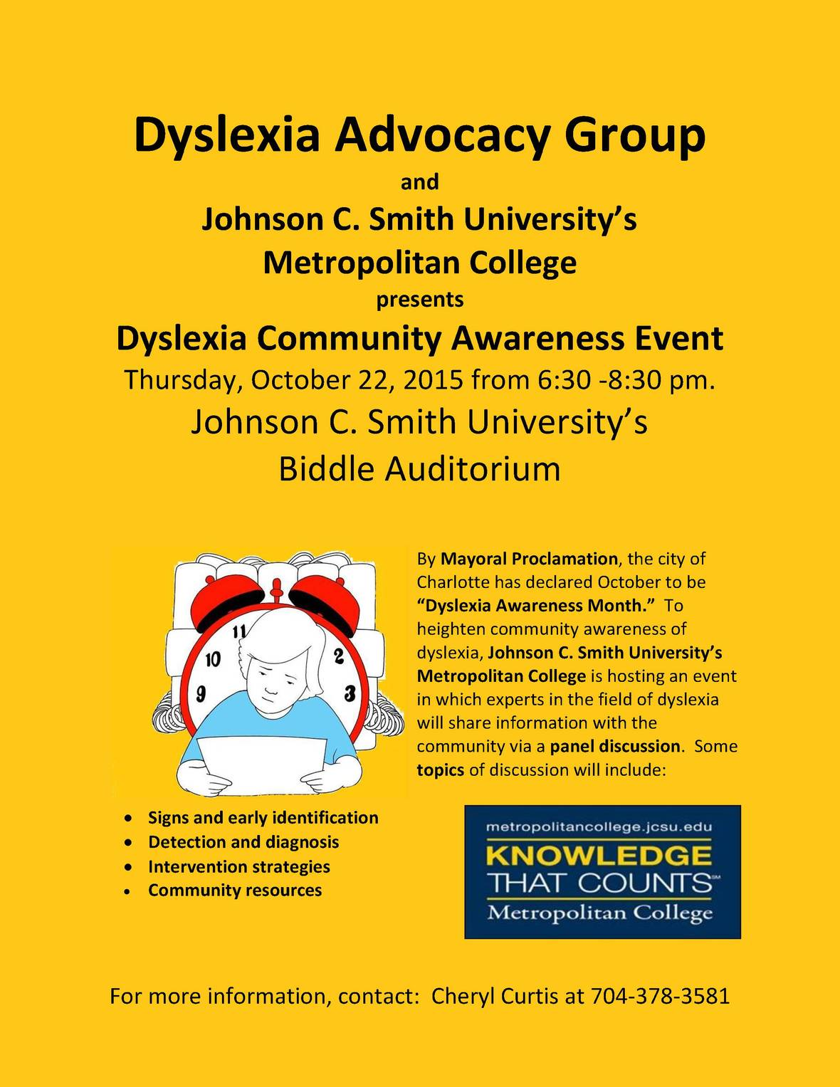 Dyslexia Advocacy Group Event