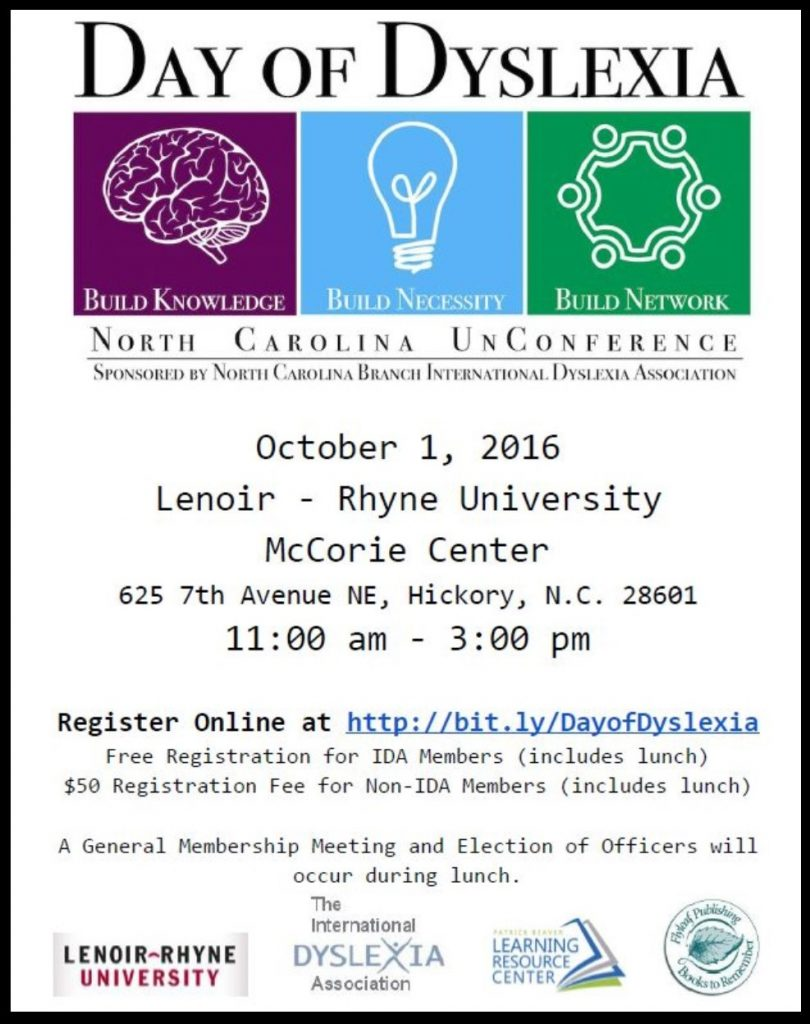 Day of Dyslexia Flyer