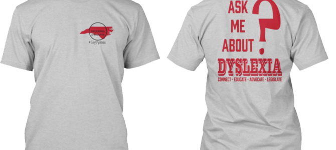 Decoding Dyslexia T-shirt Sale!