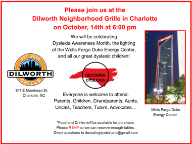 Dyslexia Awareness Celebration-Charlotte, NC