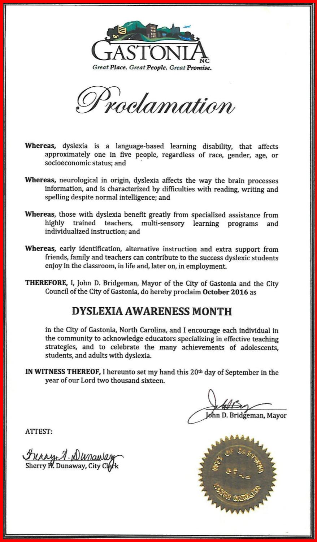 Gastonia-proclamation