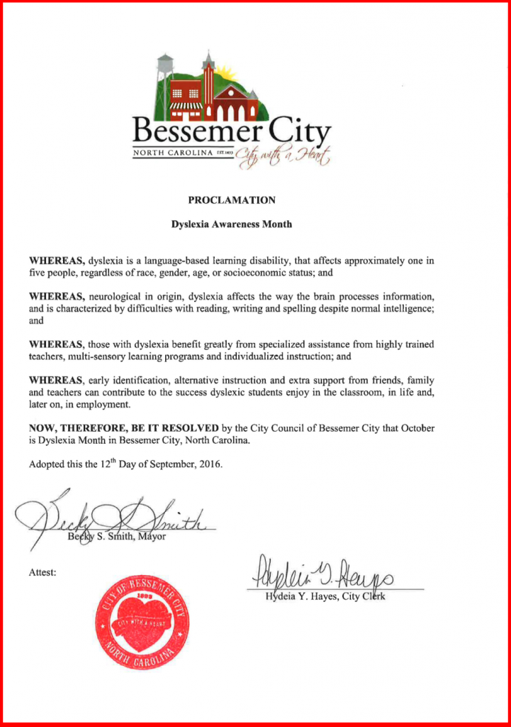 Bessemer City Proclamation