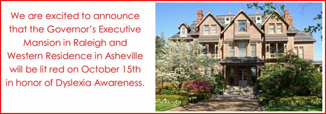 Executive Mansion Lighting Red For Dyslexia Awareness