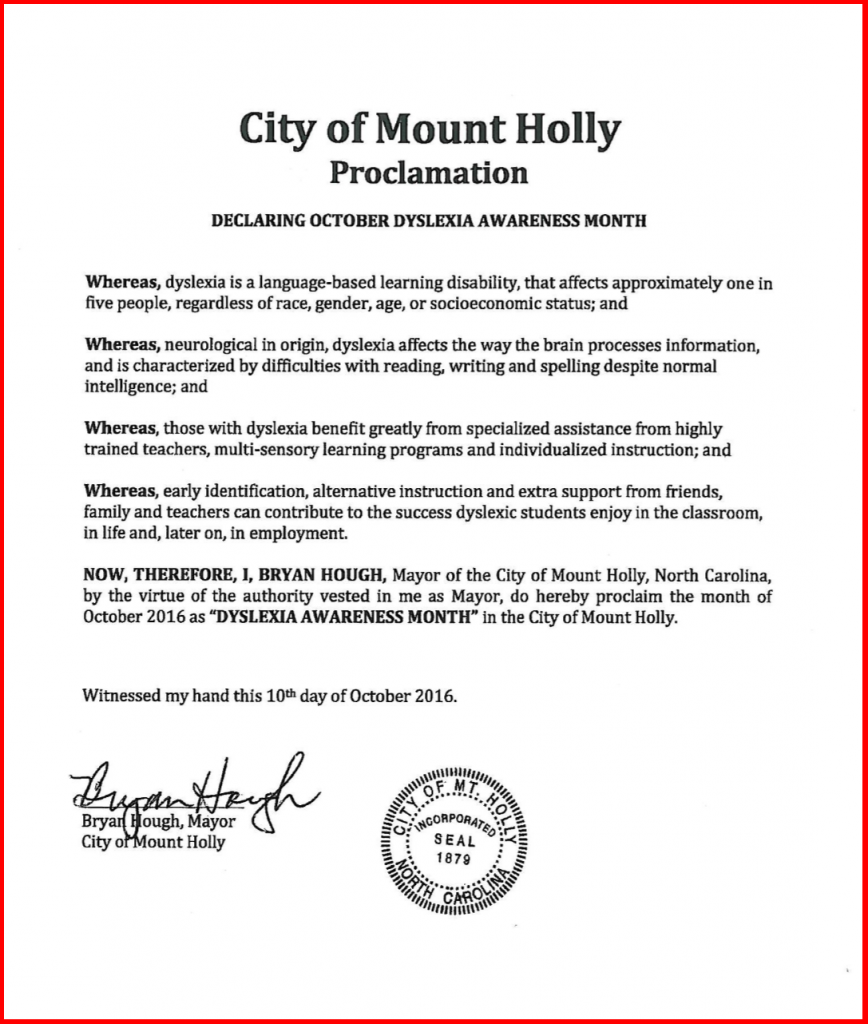 Mount Holly Proclamation