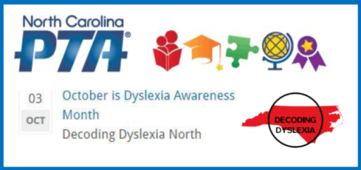 North Carolina PTA Helps Promote Dyslexia Awareness Month