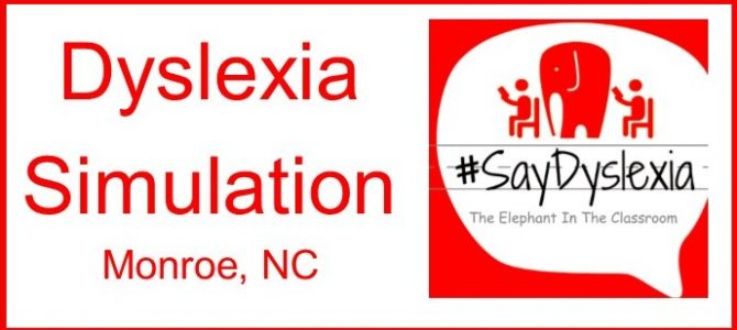 Dyslexia Simulation Union County