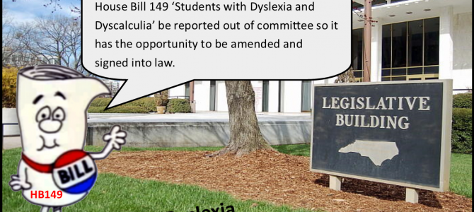 HB 149 'Students with Dyslexia and Dyscalculia""