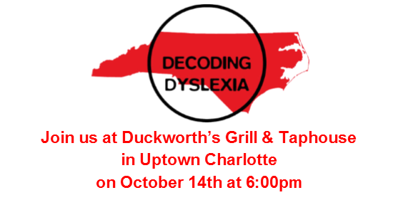 Join us for a Dyslexia Celebration in Charlotte on October 14th